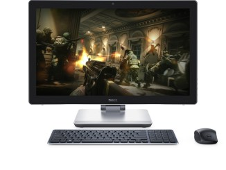 Dell Inspiron 24 7000 Series (Model 7459) All-in-One Touch desktop computer, codename Poppy. Shown with Dell KM714 Premium wireless keyboard and mouse.