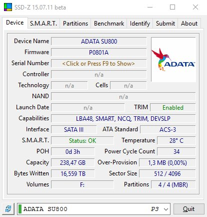 ADATA SU800 SSD-Z