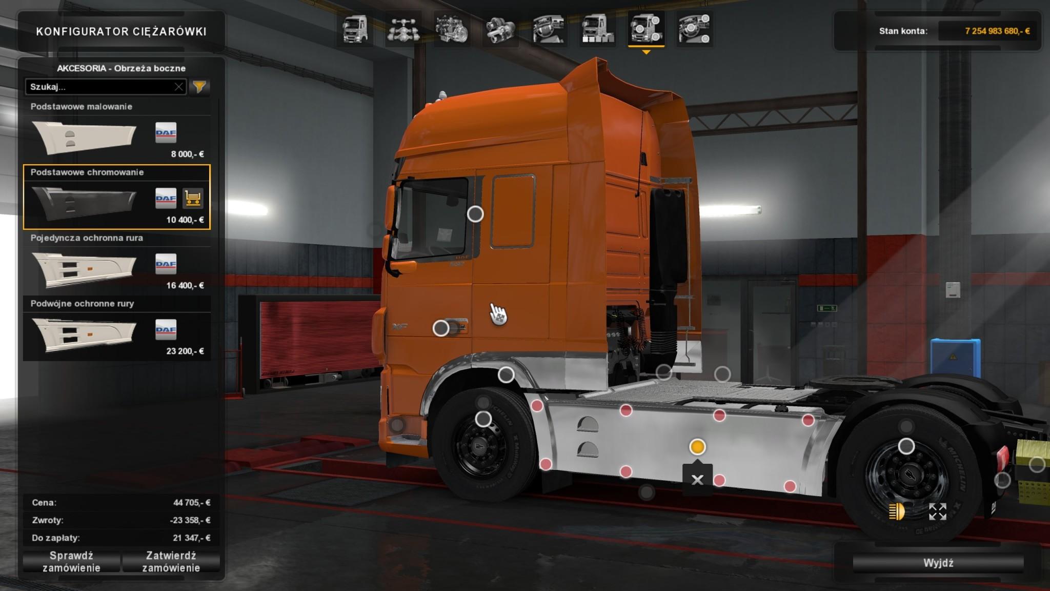 Euro Truck Simulator 2 – DAF Tuning Pack – bok Euro 6 2 – WavePC